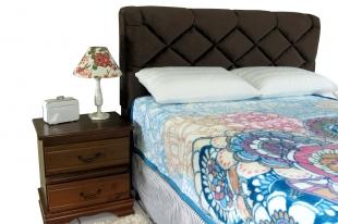 Cobertor Solteiro Toque De Seda Elle Blue 150x220 Europa