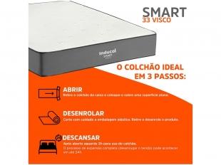 Colchão Compactado Smart D33 Visco A22 88x188 Inducol