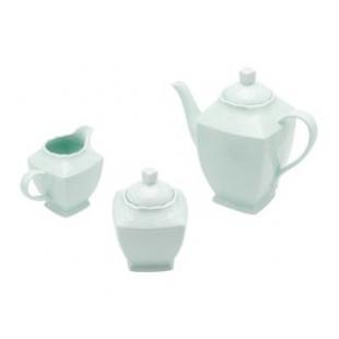 Conjunto 3 PÇS p/ Café de Porcelana Heart Verde Lyor