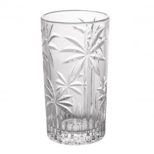 Conjunto 6 Copos Altos Cristal Palm Tree 360ml Rojemac