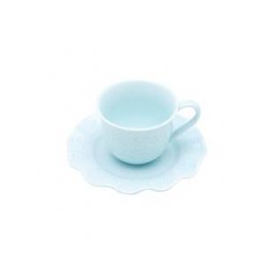 Conjunto 6 Xic. p/ Café de Porcelana Princess Azul 90ml Lyor