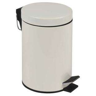 Conjunto Ágata Lixeira Bege 3L Escova Higienica Mor