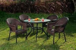Conjunto Atacama Mesa com 4 Cadeiras Para Jardim Mor