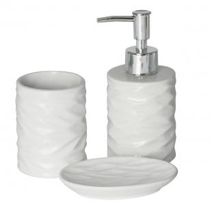 Conjunto Banheiro Cerâmica Cannes Branco 3pc Lyor