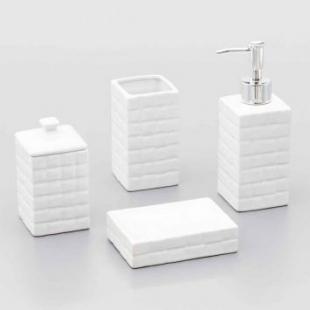 Conjunto Banheiro Cerâmica Space 4pc Lyor