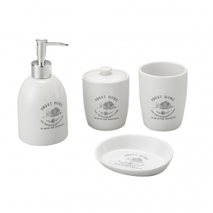 Conjunto Banheiro Cerâmica Sweet Home 4pc Lyor