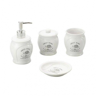 Conjunto Banheiro Cerâmica Sweet Home Branco 4pc Lyor