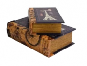 Conjunto de Caixas Livro Decorativas Torre Eiffel 2Pçs Btc Decor