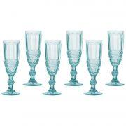 Conjunto de Taças Libélula Champagne 140ml Azul Tiffany Lyor