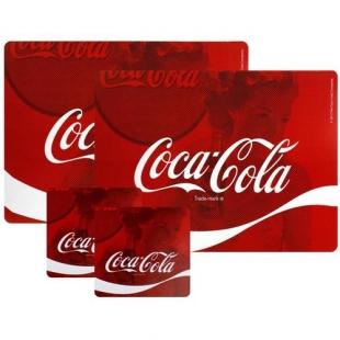 Conjunto Jogo Americano E Porta Copos Coca Cola 4pc Wave Urban Brasil
