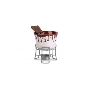 Conjunto Para Fondue 6 Peças Chocolate Brinox