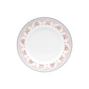 Conjuto 4 Pratos p/ Sobremesa Porcelana Rose Lyor