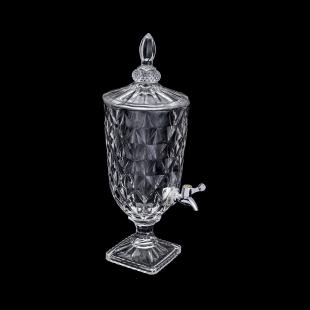 Dispenser/Suqueira 3L de Cristal Ecológico Diamond Lyor