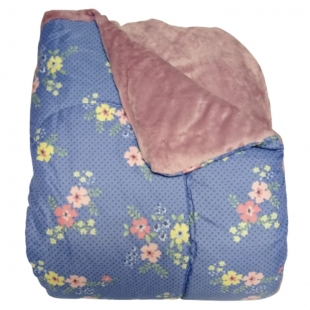 Edredom Combo Casal 1,80x2,10 Azul Floral Hedrons