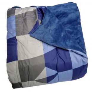 Edredom Combo Queen Slim 2,10x2,40 Azul Hedrons