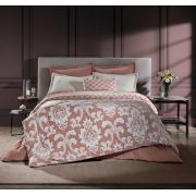 Edredom King Plush Inove Estampado Viena Rose Hedrons