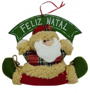 Enfeite de Porta Papai Noel Feliz Natal NIazitex