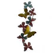 Enfeite Metal Borboletas Coloridas Decorglass