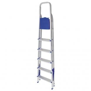 Escada Alumínio 6 degraus Mor