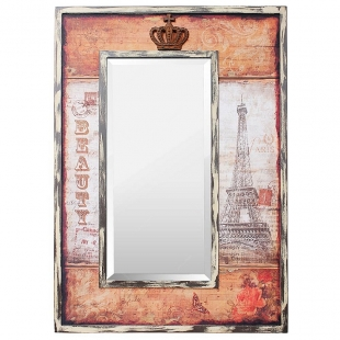 Espelho Decorativo 75x98cm Paris Eiffel Beauty Crown Goods
