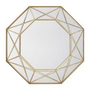 Espelho Dourado em Metal 10516 Mart