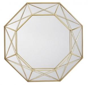 Espelho Redondo Dourado em Metal 10515 Mart