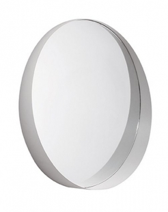 Espelho Redondo Off White em Metal 10510 Mart
