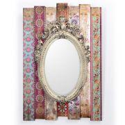 Espelho Retrô Moldura Estampada 40x59 Decorglass