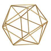 Forma Geométrica Dourada em Metal 9449 Mart