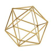 Forma Geométrica Dourada em Metal 9450 Mart