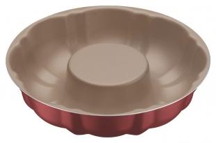 Forma para Bolo Vermelha em Alumínio Antiaderente 24 cm de 2L Tramontina