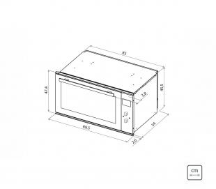 Forno Elétrico Embutir Maxi Inox Scotch Brite 8 Funções 72L 220v Tramontina