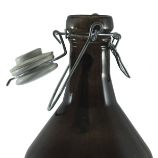 Garrafa Para Cerveja Vidro C/Tampa De Pressão 1,92L