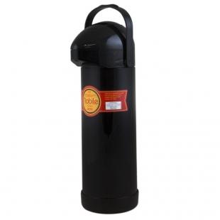 Garrafa Térmica Pressão 1 Litro Nobile Preta Mor