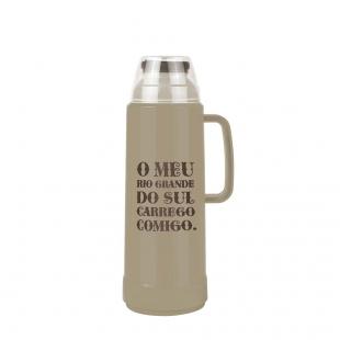 Garrafa Térmica Use Farroupilha Bege 1 Litro Mor
