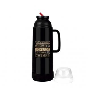 Garrafa Térmica Use Farroupilha Preta 1 Litro Mor
