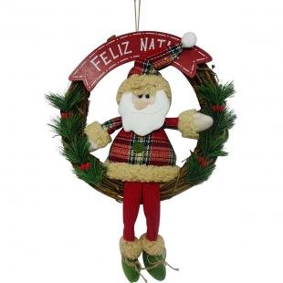 Guirlanda Papai Noel Feliz Natal  Quebec Niazitex