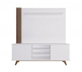 Home Br118/Est200 1,60 2 Portas Branco/Madeirado Estilare Móveis