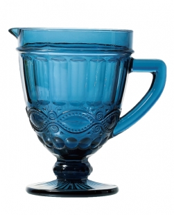 Jarra Libelula 1 litro Vidro Azul Lyor