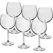 Jogo 6 Taças Cristalite 570ml Burgund Gastro Etilux