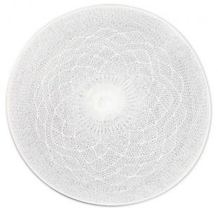Jogo Americano Redondo Crochet Branco Tyft Yoi