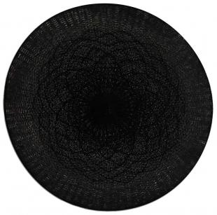 Jogo Americano Redondo Crochet Preto Tyft Yoi