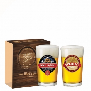 Jogo Copos Cerveja Caldereta Decorado 300ml 2 Peças Ruvolo