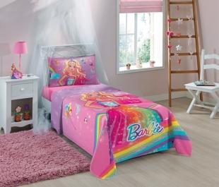 Jogo de Cama Solteiro 3 Peças Barbie 1,50x2,10 Lepper