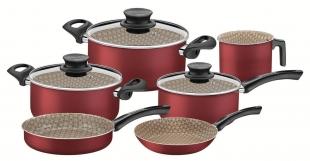 Jogo de Panelas Turim Alumínio Antiaderente Vermelho 7 Peças Tramontina