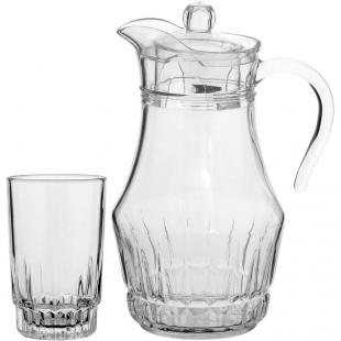 Jogo Jarra/copos Vidro Transparente 7pçs 10906 GS