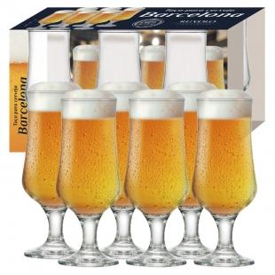 Jogo Taças Cerveja Barcelona 400ml 6 Peças Ruvolo