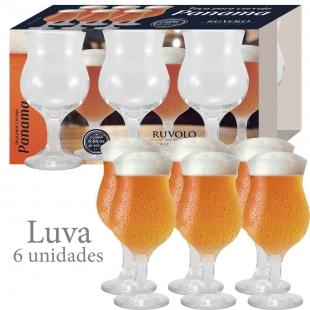 Jogo Taças Cerveja Panamá 400ml 6 Peças Ruvolo