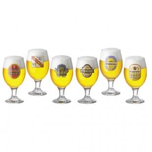 Jogo Taças Cerveja Roma Decorado 400ml 6 Peças Ruvolo