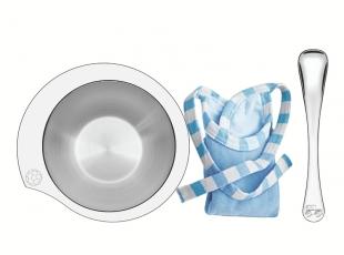 Kit Infantil Le Petit para Refeição Azul em Aço Inox 3 Peças Tramontina
